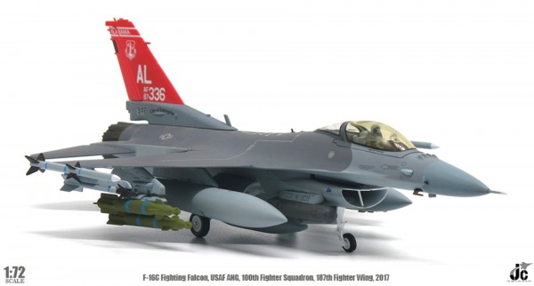 General Dynamics F-16 USAF ANG,160th Fighter Squadron, 187th Fighter Wing,2017 Scael 1/72