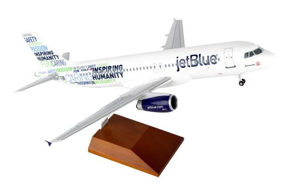 "Airbus A320 Jetblue Airways ""Bluemanity"" Scale 1/100 w/Gear"