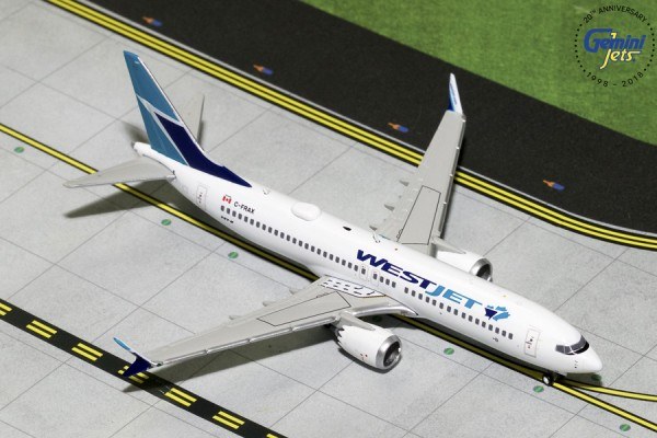 Boeing 737 MAX 8 Westjet Scale 1/400