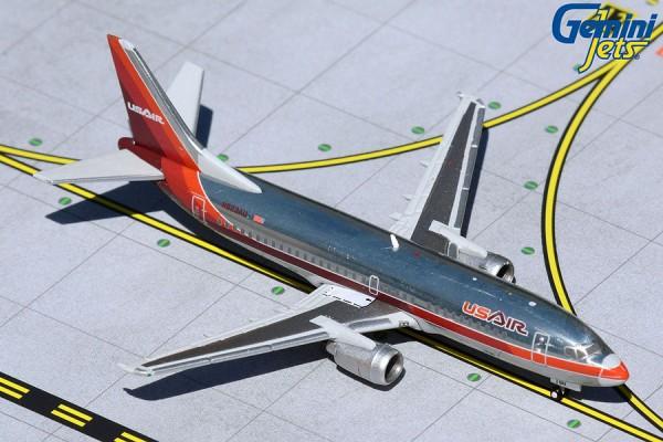 "Boeing 737-300 USAir ""1980s polished livery"" N523AU Scale 1/400"
