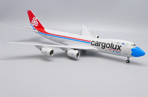 """Boeing 747-8F Cargolux """"Not Without My Mask"""" Interactive Series LX-VCF Scale 1/200 #"""