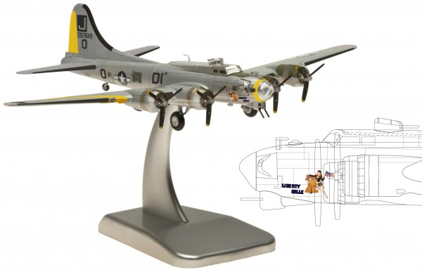 """Boeing B-17G United States Army Air Corps """"LIBERTY BELLE"""" Scale 1/200"""