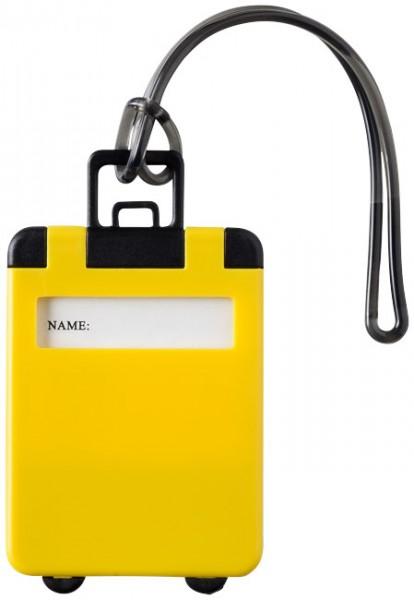 Kofferanhänger gelb / Luggage Tag yellow