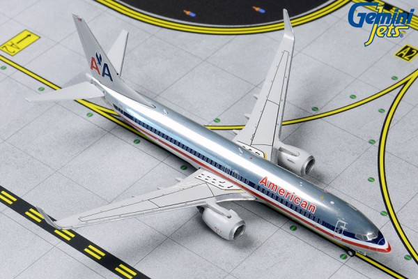 """Boeing 737-800 American Airlines """"Polished Retro"""" Scale 1/400"""