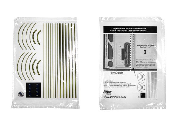 Airport Graphic Decal Sheet GeminiJets Scale 1/400