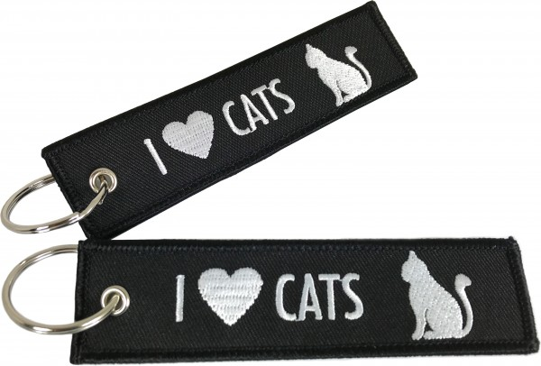 Key ring - I Love Cats 125 x 30 mm