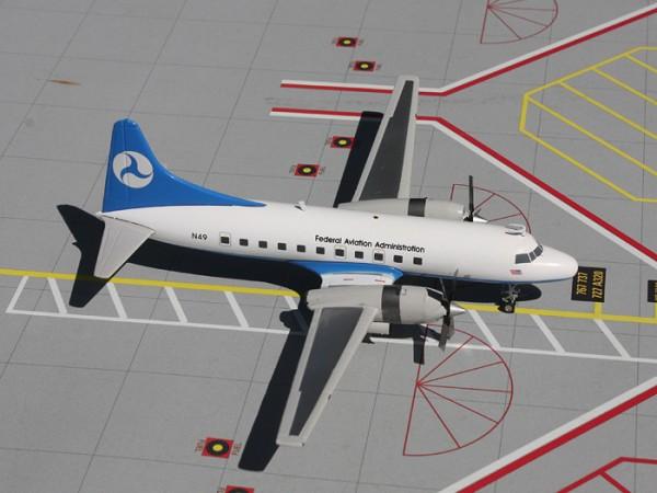 Convair CV-580 Federal Aviation Administration (FAA) N49 Scale 1/200