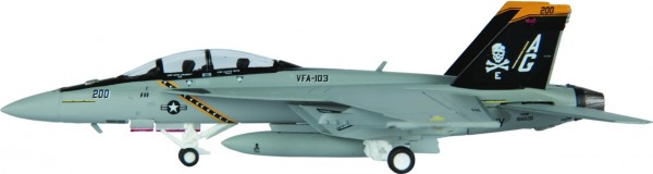 """McDonnell Douglas F/A-18F Hornet US Navy VFA-103 """"Jolly Rogers"""" Scale 1/200"""