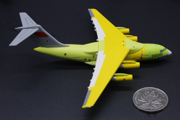 """Xian Y-20 Kunpeng China Air Force """"first flight livery"""" 20001 Scale 1/400"""
