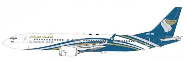 Boeing 737-MAX8 Oman Air A4O-ME Scale 1/400