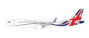 "Airbus A321neo Royal Air Force/Titan Airways ""United Kingdom"" G-XATW Scale 1/200"