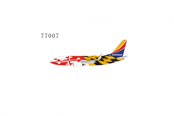 """Boeing 737-700/w Southwest Airlines """"Maryland One livery with Heart One tail"""" N214WN Scale 1/400 #"""