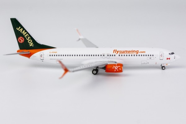 """Boeing 737-800 Sunwing Airlines with scimitar winglets """"Jameson Whiskey Livery"""" C-FPRP Scale 1/400"""