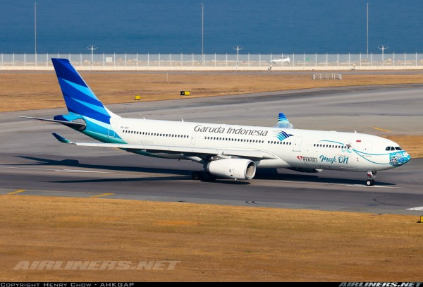 """Airbus A330-300 Garuda Indonesia """"Mask on"""" PK-GHC Scale 1/200"""