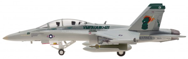 """McDonnell Douglas F/A-18 Hornet US Marines VMFA(AW)-121 """"Green Knights"""" Scale 1/200"""