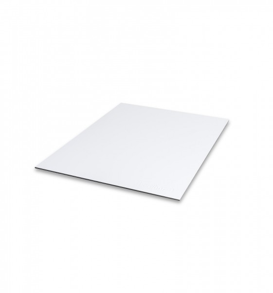 cover plate in aluminium compound material - white
