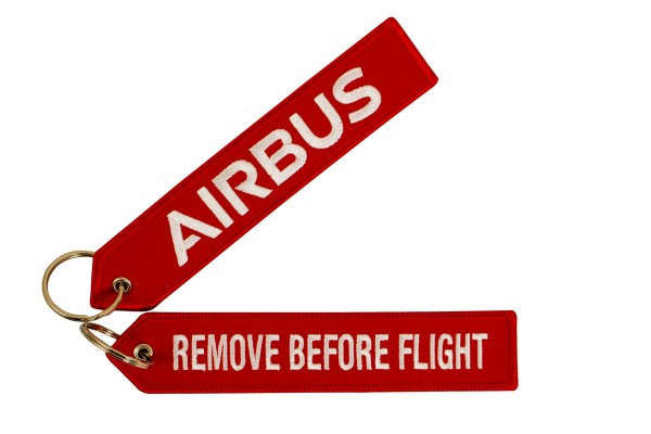 Key ring - Airbus red Large size: 160 x 30 mm