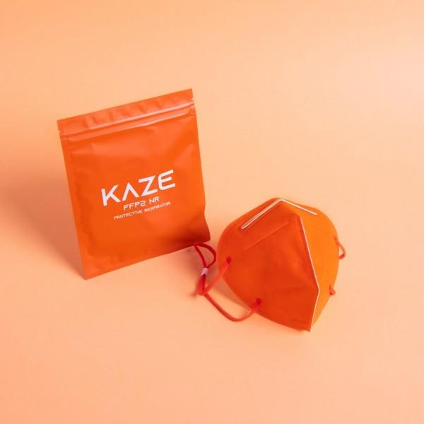 Atemschutzmaske Typ FFP2 NR Citrus orange/Zitrusorange