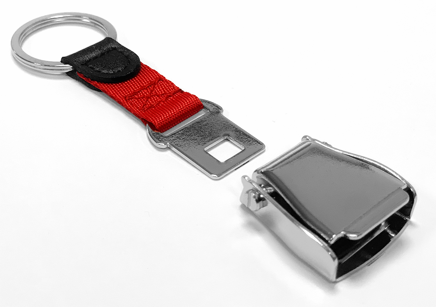 Airline Seatbelt key chain   red