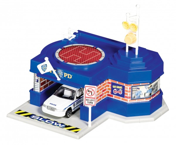 Mini Police Station with car