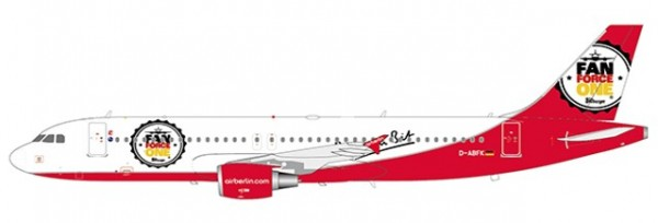 """Airbus A320 Air Berlin """"Fan Force One"""" D-ABFK Scale 1/200"""