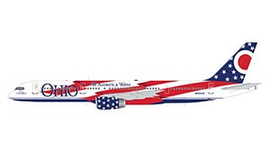 "Boeing 757-200 America West Airlines ""City of Columbus"" (Ohio State Flag) N905AW Scale 1/200"