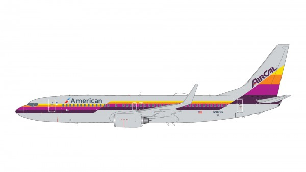 """Boeing 737-800 American Airlines """"AirCal Heritage Livery"""" N917NN Scale 1/200"""