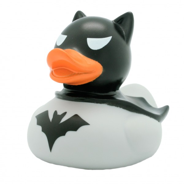 "Quietsche-Ente ""Batman"" grau / Rubber duck ""Batman"" grey"