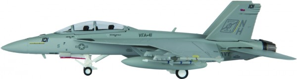 "McDonnell Douglas F/A-18F Hornet US Navy VFA-41 ""Black Aces"", NH 101 Scale 1/200"