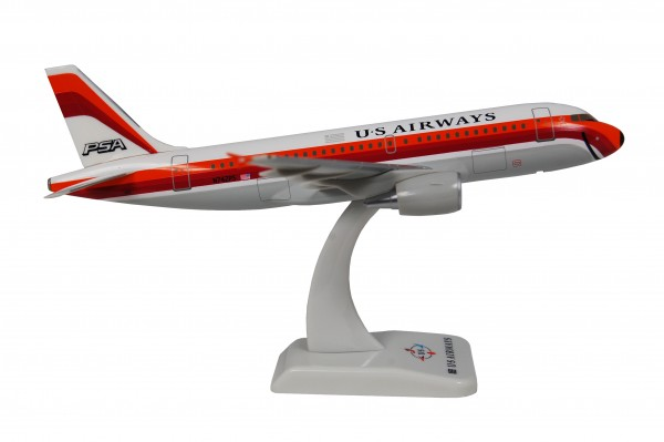 """Airbus A319 US Airways """"PSA"""" New Livery N742PS Scale 1:200"""