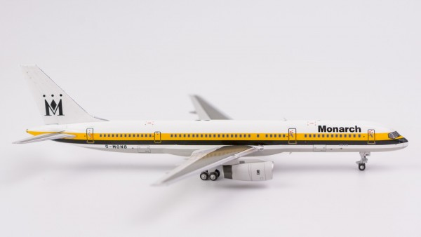 """Boeing 757-200 Monarch Airlines """"1990's yellow/black stripe colours"""" G-MONB Scale 1/400"""