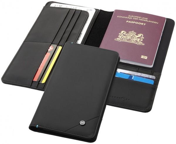 RFID Reisebrieftasche, schwarz / RFID Travel Wallet, black