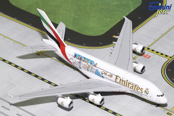 """Airbus A380-800 Emirates """"Real Madrid"""" A6-EUG Scale 1/400"""