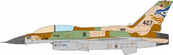 "F-16I Sufa Israeli Air Force, 253 Squadron ""The Negev Squadron"", INIOHOS 2015 Scale 1/72 #"