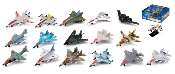 JET FIGHTER die-cast Toyplane mixed Blister box