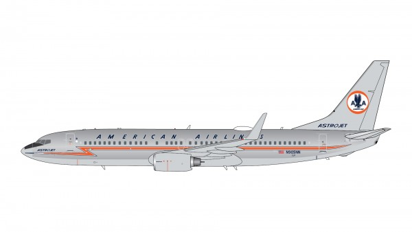 """Boeing 737-800 American Airlines polished """"Astrojet"""" livery N905NN Scale 1/400"""