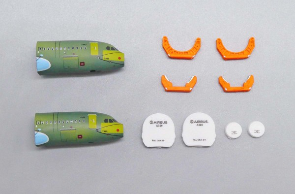 Airbus A320 Front Fuselage Sections Set Scale 1/400