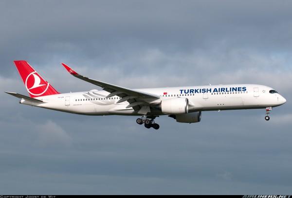 Airbus A350-900XWB Turkish Airlines TC-LGA Scale 1/400