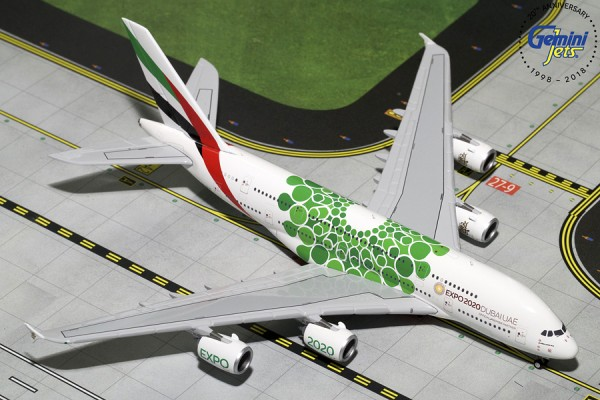 "Airbus A380-800 Emirates ""Green Expo 2020"" Scale 1/400"