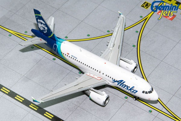 Airbus A319 Alaska Airlines Scale 1/400