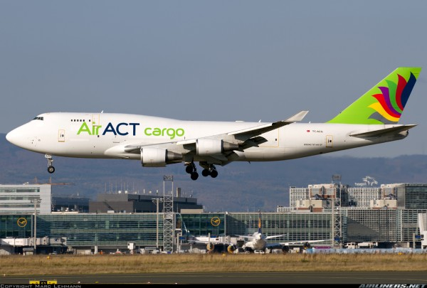 Boeing 747-400(BDSF) ACT Airlines Flaps Down Version TC-ACG Scale 1/400