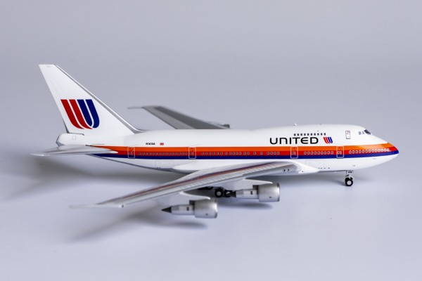 """Boeing 747SP United Airlines """"Saul Bass"""" livery; large 'UNITED' titles N140UA Scale 1/400 #"""