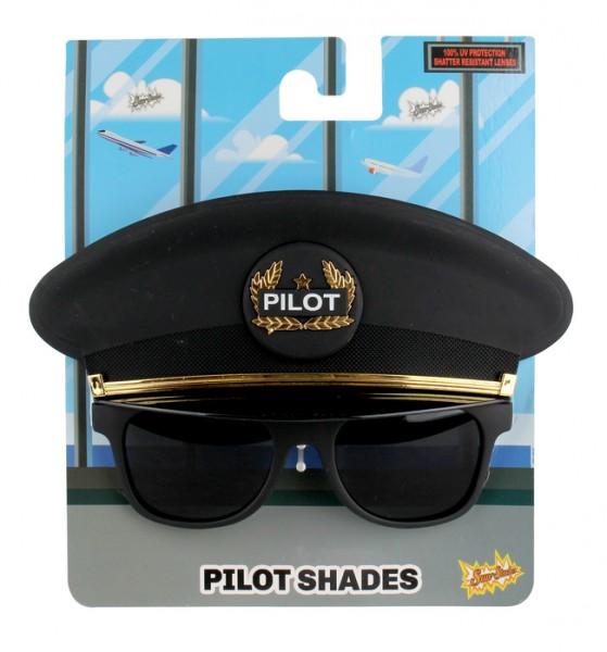 Sonnnebrille im Pilothut Look / Sunglasses as Pilot Hat Mask