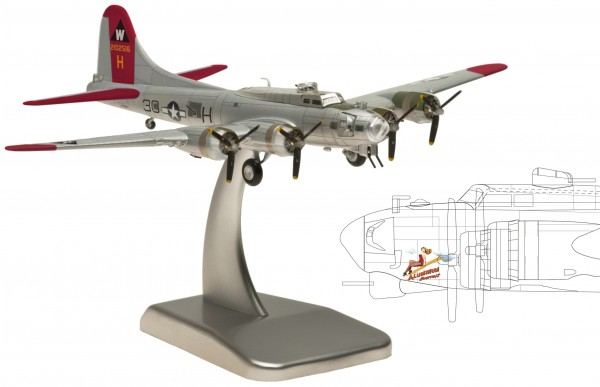 """Boeing B-17G United States Army Air Corps """"ALUMINUM OVERCAST"""" Scale 1/200"""