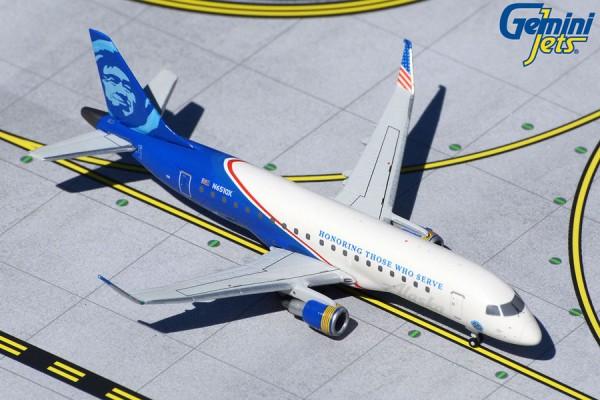 "Embraer E-175 Alaska / Horizon Air ""Honoring Those Who Serve"" N651QX Scale 1/400"