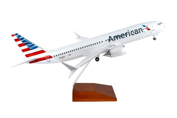 Boeing 737-MAX8 American Airlines Scale 1/100 w/Gear