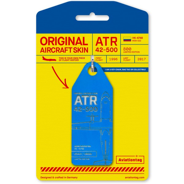 Aviationtag ATR 42 – HK-4748 blue