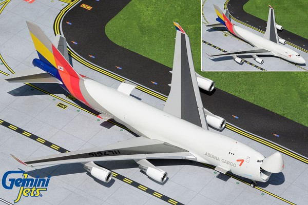 Boeing 747-400F Asiana Cargo (Interactive Series) HL7616 Scale 1/200