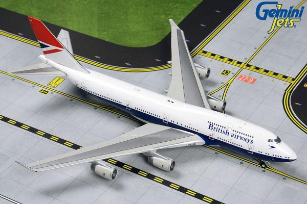 """Boeing 747-400 British Airways """"Negus Retro Livery"""" Scale 1/400"""