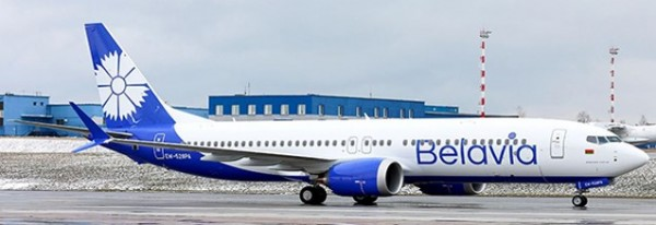 Boeing 737-MAX8 Belavia Belarusian Airlines EW-528PA Scale 1/200